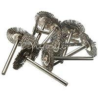 Generic-10 pennelli in acciaio INOX, con macinino, per utensili rotativi
