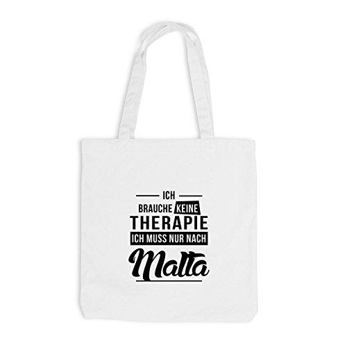 Therapy Brauche Jutebeutel Therapie Malta Ich Urlaub Keine Weiß Mittelmeer n1X1S7gq