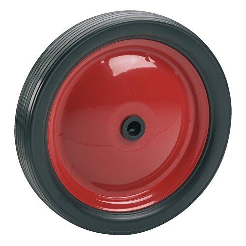 Dörner + Helmer 709312 PVC-Rad mit Stahlfelge rot und Rillenprofil 180 x - Rad Weber Grill