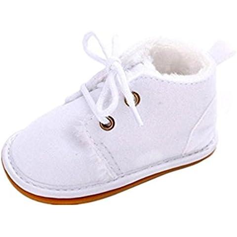 Zapatos de bebé Auxma Zapatos de bebé, Bebé niño infantil nieve Botas zapatos suela de goma cuna