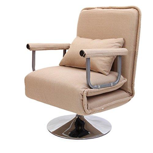 L&J Bureau, chaises Pliantes,Chaise canapé,Lit inclinable Patio chaises Pliantes pour Patio Bureau Piscine Jardin Balcon-Charge 200kg,Chiffon de Lin-C