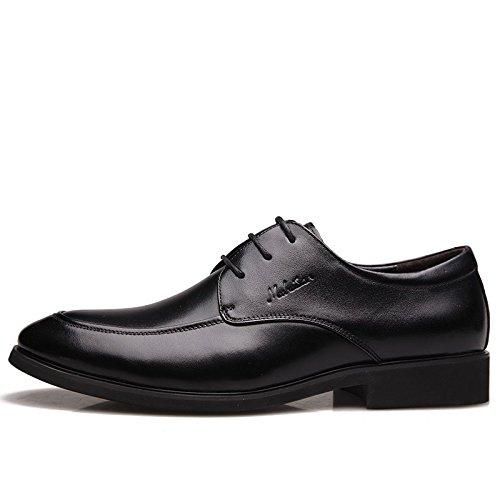 kakaka chaussures affaires Chaussures hommes l?ger vachette cuir Black