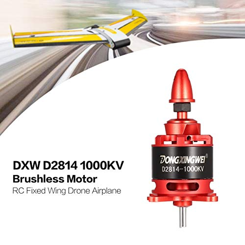 MachinYeser DXW D2814 2814 1000KV 3 4S 6S 12mm Brushless Motor Outrunner for RC FPV Fixed wing Airplane Drone 6xXNUMX Red Propeller