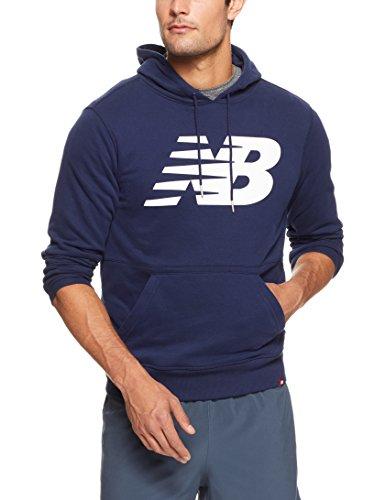 Balance Hoody (New Balance Herren Oberteile/Hoody MT81557 Essentials Blau L)