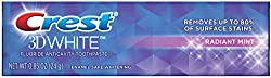Crest 3D White Vivid Fluoride Anticavity Toothpaste-Radiant Mint-0.85 oz