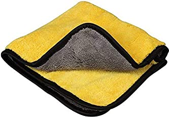 BUYWELL Ultra Premium Super Absorbent Extra Thick Multipurpose Microfibre Cloth for Car Cleaning, Kitchen, Bike, Laptop, LED TV, Mirrors, Bathrooms, Furniture and Many More. (30 x 40 cm) (2)