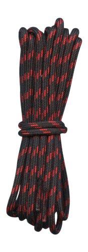 Fabmania Lacets Ronds pour bottes Noir avec Rouge 4mm diametre