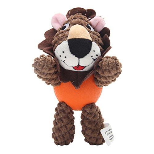 Lh Haustier Hund Spielzeug Sound Welpen Molaren Kauen Biss-resistente Abnutzungs-Spielzeug Hund Stofftier Löwe (Molaren Obere)