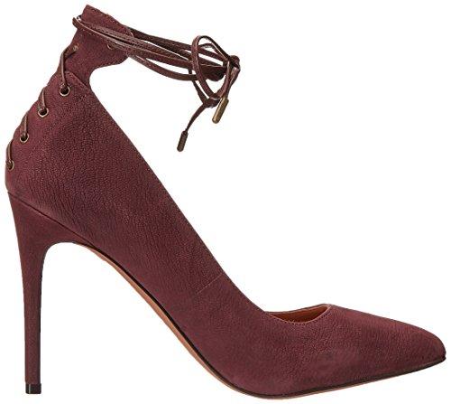 Nine West Ebba Leather Pump Dress Dark Brown/Dark Brown Leather
