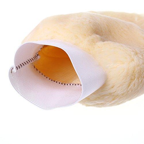 Fuwahahahah Waschhandschuh aus synthetischer Lammwolle, weiches Schaffell, Autowäsche-Handschuh - Weichen Schaffell