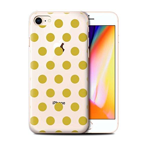 Coque de Stuff4 / Coque pour Apple iPhone 8 / Argent Design / Toqué à Pois Collection Or