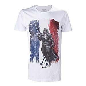 Assassins Creed - Bandera de la Unidad de la camiseta de los hombres - razón Arno Dorian -algodón - Blanco