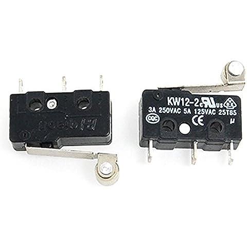 2 piezas rodillo Micro límite de fijación SPDT subminiatura brazo interruptor de acción Direct Hardware