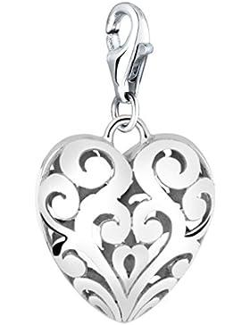 Nenalina Charm großes Herz Anhänger in 925 Sterling Silber für alle gängigen Charmträger 713167-000