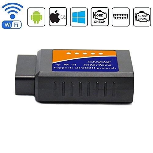 Obd-ii-scanner Wifi (Friencity Auto WIFI OBD 2 OBD2 OBD II Scanner-Adapter für IOS iPhone, Android und Windows, Selbstdiagnosescan-Codeleser-Werkzeug, überprüfen Maschinen-Licht für Jahr 1996 und neuere Fahrzeuge)