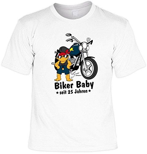 T-Shirt zum 24. Geburtstag Biker Baby Laiberl Geschenk zum 24 Geburtstag 24 Jahre Geburtstagsgeschenk 24-jähriger Bruder Freund Weiß