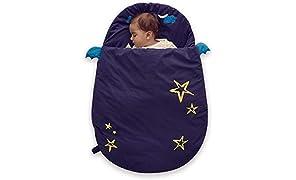 Bebamour Anti Kick Babyschlafsack Safe Nights Cotton Babyschlafsack 2.5 Tog 0-18 Monate und älter Cute Infant Boy Girls Schlafsack Baby Wrap Blanket