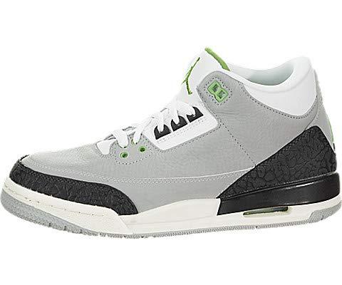 Nike Herren Air Jordan 3 Retro (gs) Fitnessschuhe, Mehrfarbig (Lt Smoke Grey/Chlorophyll/Black/White 006), 40 EU