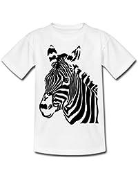 Spreadshirt Zebra Porträt Zebrakopf Kinder T-Shirt