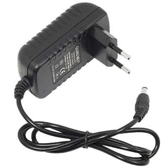 Bloc d'alimentation adaptateur secteur 100-240V vers 12V 2A 24W avec cordon d'alimentation prise UE pour ruban à LED