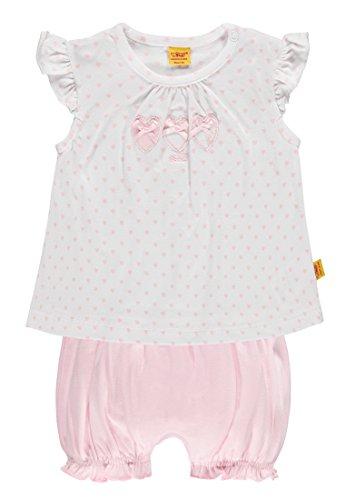 Steiff Baby-Mädchen Strampler 2tlg. Set T-Shirt Flügelarm + Short, Rosa (Barely Pink 2560), 68