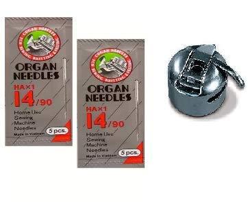 Zenith Organ Steel Needles NO HA 14, 2 Packs, 10-Pieces