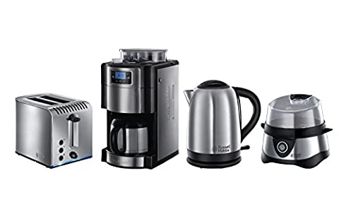 Russell Hobbs Frühstück-Set 4-tlg. Kaffeemaschine + Wasserkocher + Toaster +
