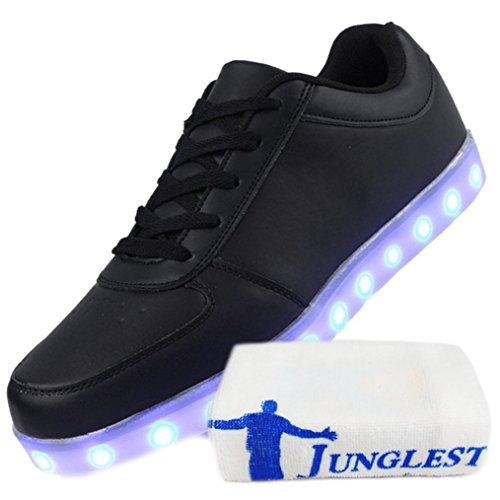 [+ Petite Serviette] Led Colorées Brillent Et Chargeant Des Chaussures Argent Nouvelles Chaussures Casual Usb Mâle Brillant Et Paire Chaussures C24 Femelle