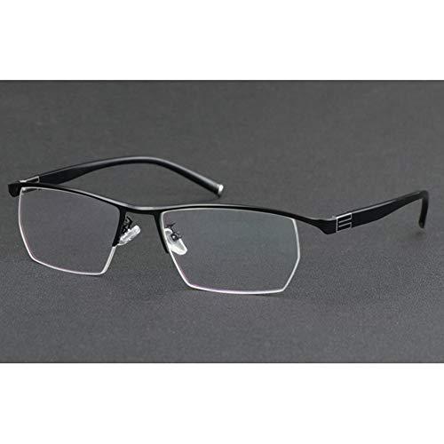 Herren Getönte Bifokale Leser (Bifokale Lesebrille, Progressive multifokale Business-Brille für Herren, stilvolles Aussehen und kristallklare Sicht, Komfortfederarme, Halbrandbrille)