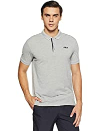 Fila Men's Solid Regular Fit Polo