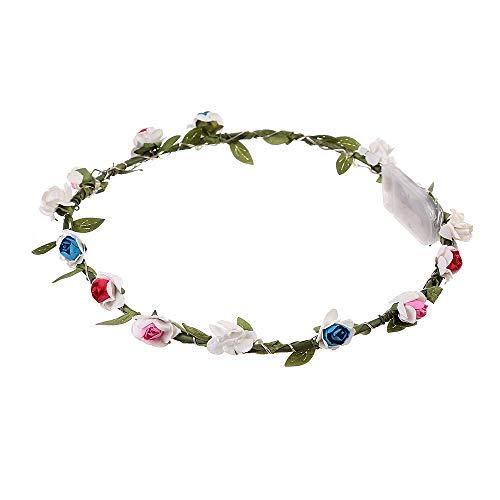 VRTUR LED-Stirnband, Blumenkranz, Blumenkranz, für Festivals, Hochzeit, Party, 5 Stück Farbe,Karneval Geschenk(Einheitsgröße,X-Mehrfarbig)
