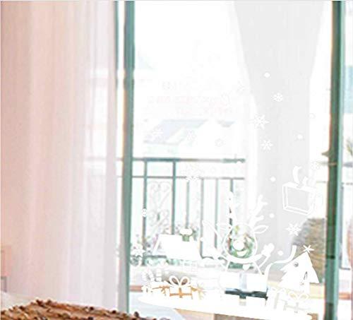 KUANGJING Selbstklebende Weihnachten Syracuse dekorative Wandaufkleber Kinderzimmer Fenster Dekoration Cartoon PVC Wandtattoos New Year Wandbild Kunst Poster 50X70Cm Syracuse Restaurant