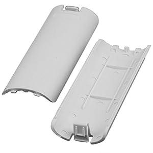 giZmoZ n gadgetZ GNG Fernbedienung Batterieabdeckung kompatibel Nintendo Wii Weiß