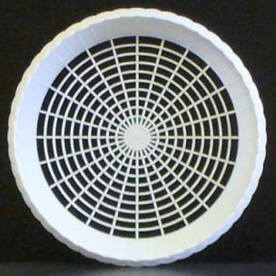 Plastic 9 Paper Plate Holders in White Maryland Plastics, 4 plate holders per unit by Maryland Plastics