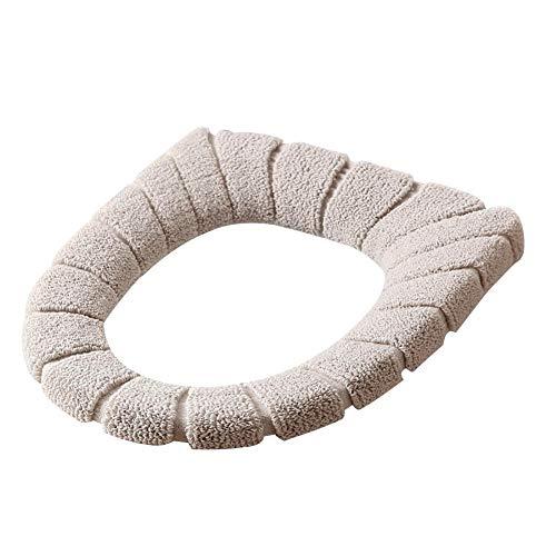 Pournei Toilettensitz-Bezug, 2 Stück, Winter-Universal-Toilettensitz-Kissen, antibakteriell, warm, stoßfest, Dicker WC-Sitzbezug