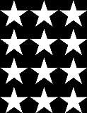 Star - Glossy Vinyl - Medium Stars 12 Pack 2.7
