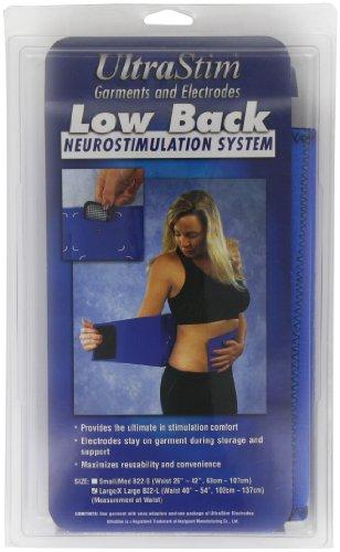 Der PALS Back Belt, Groß, Rückengurt für elektrische Stimulation, die mit Elektroden für TENS-Schmerzlinderung, oder für eine 102-137cm Taille, Inklusive 4 UltraStim Elektroden & 4 Schnappverbindungen