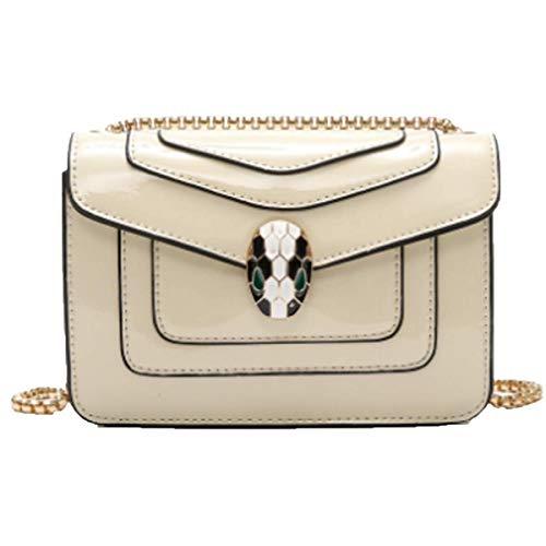 Damen Sommersaison Quaste Weibliche Tasche Paket Kette Umhängetasche Mini-Tasche Handtasche (Klein, Rot),Crocodilegray-22 * 15 * 5cm