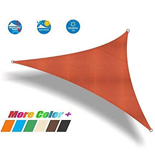 CAIJUN Sichtschutznetz Sonnensegel Dreieckiges Schattennetz Draussen Sonnenschutz Wasserdicht Atmungsaktiv Anti-UV, 2 Farben, 13 Größen (Color : Orange, Size : 4x4x4m)