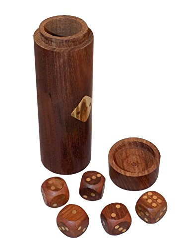 SKAVIJ Handgemachte Hölzerne Dekorative Und Spielende Würfel Mit Aufbewahrungsbox (Leben Größe Spielbrett)