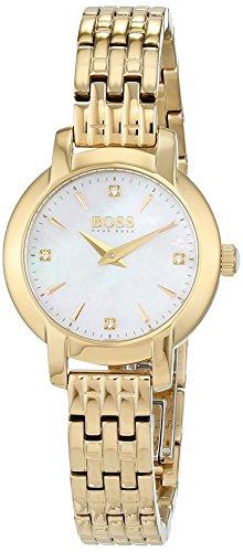 Hugo BOSS Damen-Armbanduhr, Gold Stahl/Perlmutt, 1502381
