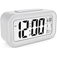 Naughty Monkey INC Large LED Display Digital Alarm Clock Snooze Activated Night Light Features White