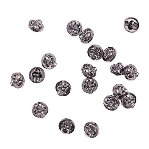 Kesheng 20pcs Botones Calaveras de Metal para Costura