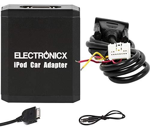 Electronicx Elec-M05-NIS Adattatore interfaccia Compatibile con iPhone iPod iPad, AUX Compatibile con Nissan Almera Auto