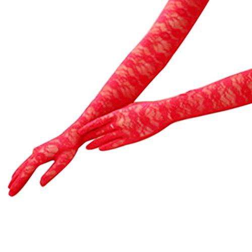 Satin Handschuhe Schwarze Lange Lycra (BXT Premium Spitze Brauthandschuhe Hochzeithandschuhe Sonnenschutz Langen Finger UV Handschuhe Netzhandschuhe in Verschiedene)
