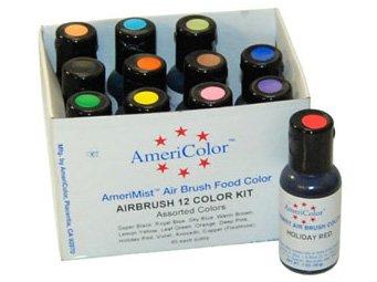 12 Airbrush Farben Set AmeriColor AmeriMist (12x19ml) von AmeriColor - TapetenShop