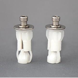 Roca par de asiento para inodoro de fijación pinzas para bisagras cierre suave