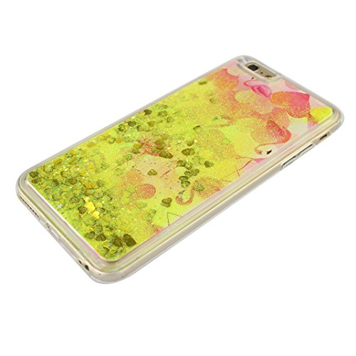 Handyhülle iPhone 6S Treibsand Schale 4.7 Zoll, iPhone 6 Flüssig Hülle, Moon mood® iPhone 6S 6 Durchsichtige Handyhülle 3D Creative Case Mode Bunten Transparente Kristallklaren Sparkly Silikon TPU Wei Stil 24
