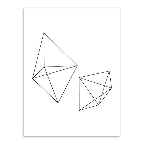 Beiguoxia Nordic Style abstrait Motif géométrique sans cadre Peinture murale Home Office Art Décoration, Toile, #2, 30x40cm