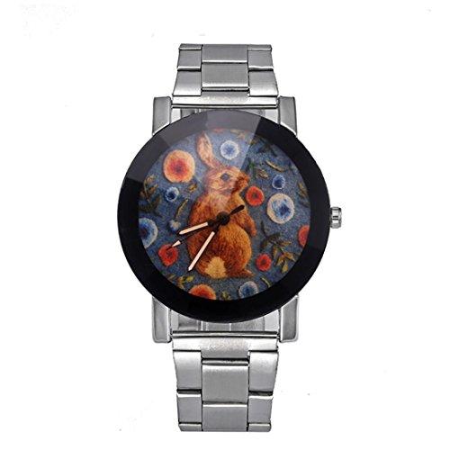 Preisvergleich Produktbild Dragon868 Herren / Damen-Uhr Edelstahl Sport Quarz Stunde Handgelenk analoge Uhr (B)